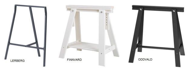 Ikea Tafelblad Met Schragen.Diy Schragen Tafel Maison Belle Interieuradvies